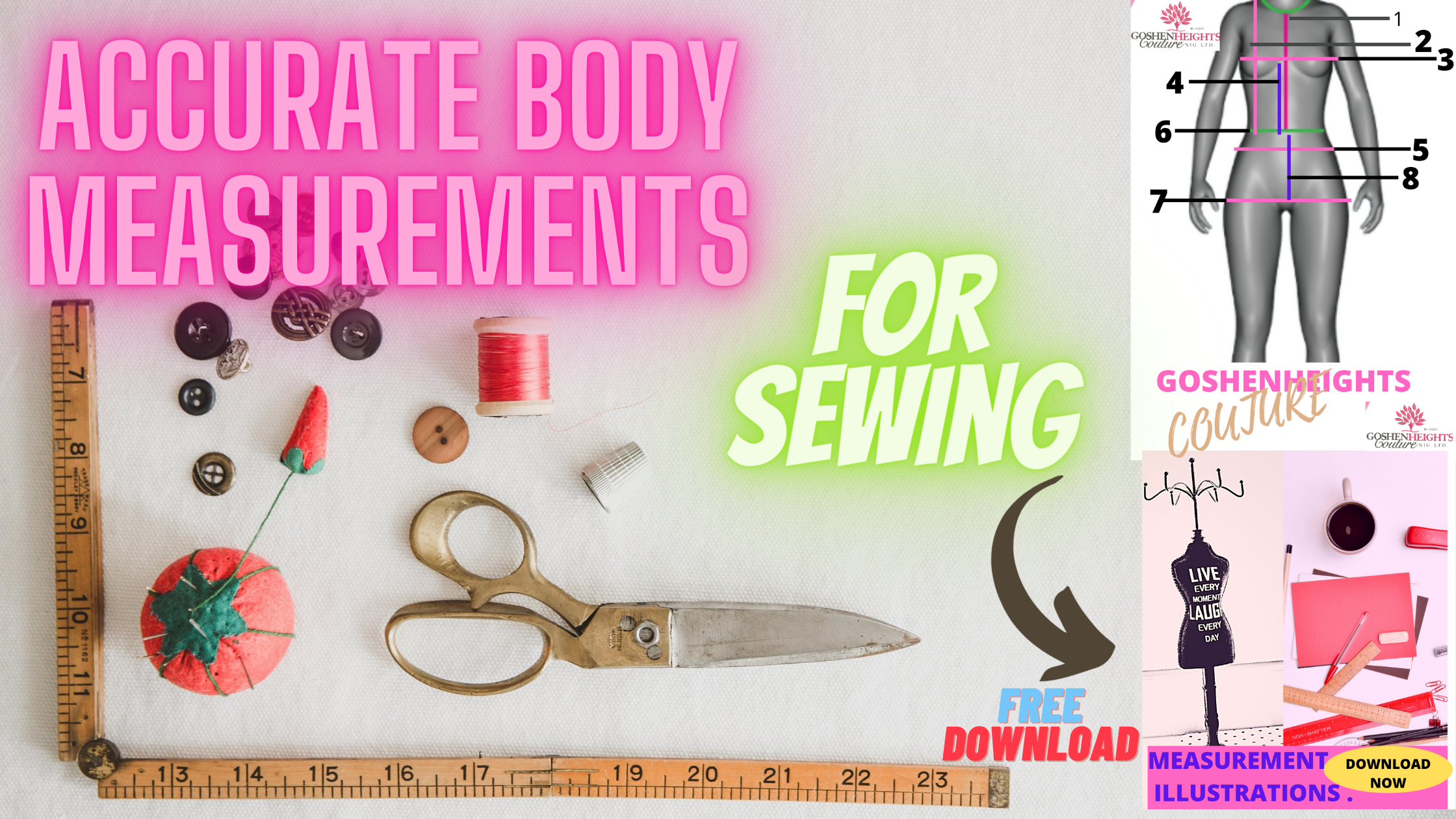 ACCURATE BODY MEASUREMENTS FOR DRESS MAKING