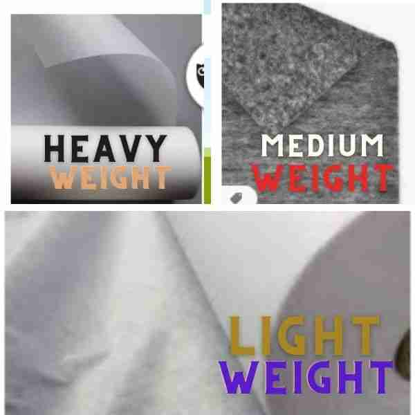 DIFFERENT KINDS OF INTERFACE WEIGHTS